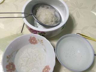 红豆薏米炖燕窝的做法步骤:2